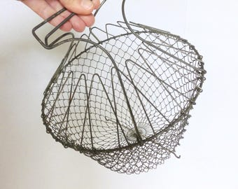 Collapsible Wire Mesh Egg Basket Made in France