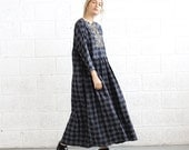 Winter Final Sale SALE!Christmas Sale plaid maxi dress .