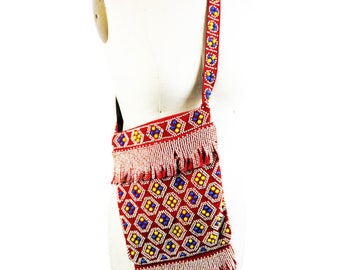 1960s Red Dot Beaded Purse