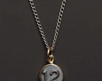 Necklaces for Men - Numerology - Number 12 Necklace - Personalized Men Jewelry - Mens Jewelry - Number Twelve Pendant - silver chain for men