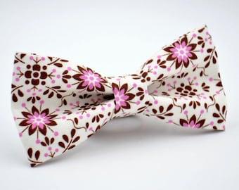 Mens Bow Tie, Floral Bow Tie, Wedding Bow Tie, Groomsmen Bow Tie, Prom Bow Tie