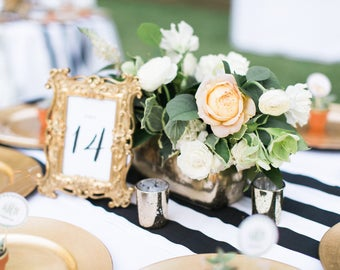 Table Numbers - Wedding Table Numbers - Wedding Reception - 4x6 Wedding Numbers - Tables 1 to 10