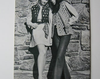 1970 crochet pattern boho, hippie, fashion booklet