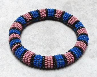Vintage 1960's African Tribal Beaded Bracelet