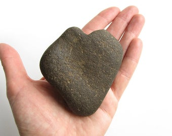 Large Heart Shaped Rock - River Pebble - Beach Stone - Valentine Gift