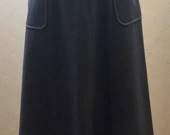Vintage Skirt, Wraparound Skirt, Skirt with Pockets, Polyester Skirt, Boho Skirt, Vintage 70s, 1970s Vintage, Contrast Stitching, Boho