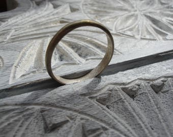 Silver (tested) + stamped Moroccan tarnished plain man's ring UKW.5
