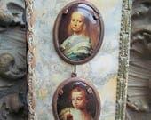 Great Masters Vintage Western German Framed Cabochon