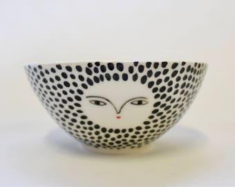 Porcelain small bowl polka dot