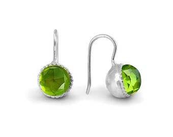 Peridot Crystal Earrings, Peridot Jewelry, August Birthday, Birthstone jewellery, Green Peridot Earring, Handmade Jewelry, geometric earring