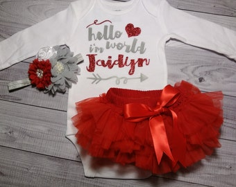 Baby Baby Girl, coming home outfit, clothes, take home outfit, going home outfit, newborn, hello world, name, sparkling new, baby girl shirt