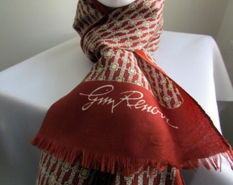 Vintage Jim Renoir late 60s/early 70s scarf from Paris - free US shipping!
