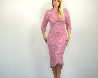 Soft Pink Midi Dress