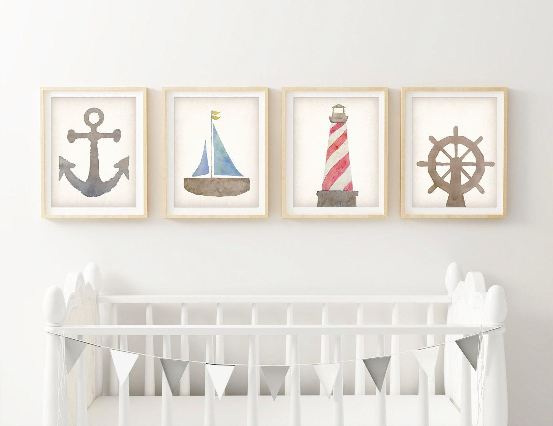 nautical nursery decor wall art canvas canvas nursery art. Black Bedroom Furniture Sets. Home Design Ideas