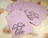 Lavender Earring Cards, Card Stock Paper Earring Cards, 20 Earring Cards, Supplies, Earring Packaging CKDesigns.US