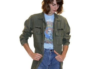 Vintage Army Jacket Authentic Military One of a Kind