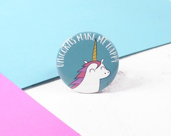 Unicorn Badge / Unicorn Pin / Unicorn Gift / Kawaii Badge Gifts / Gifts For Girls / Best Friend Gift / Gift For Her