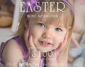 Easter mini session template, photography