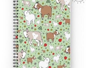 Goat Notebook, Cute Goat Gifts, Cute Goats, Goat Gift, Goats, Farm Animals, Goat Pattern, Yelling Goat, Goat Pattern Gift, For Goat Fans