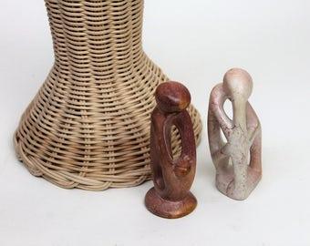 Pair of Stone Minimalist Figurative Sculptures