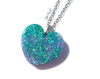 Mermaid Love - Resin Necklace