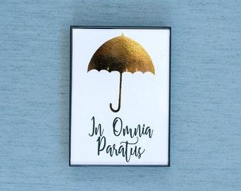In Omnia Paratus Gilmore Girls Gold Foil & Framed Print