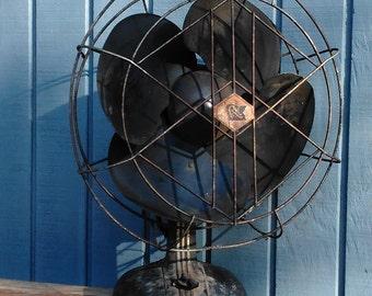 Vintage Fan - Industrial Fan - R&M fan - Art Deco Fan