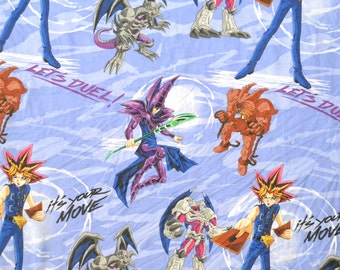 Vintage 1996 90s YU-GI-OH Yugioh Twin Size Flat Sheet