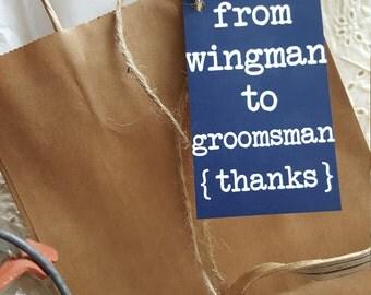 Printable Groomsmen Gift Tag Wingman - INSTANT DOWNLOAD   printable   groomsmen   wedding