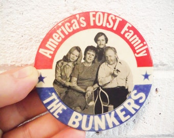 All in the Family,  Archie Bunker pin, collectible tv show, tv memorabilia, 1970's sitcoms,  comedy,  curmudgeon,  vintage Archie Bunker