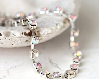 Diamanté Bracelet - Crystal Bracelet - Sparkle Bracelet - Rhinestone Bracelet - Elegant Bracelet - Evening Jewelry - Dainty Bracelet