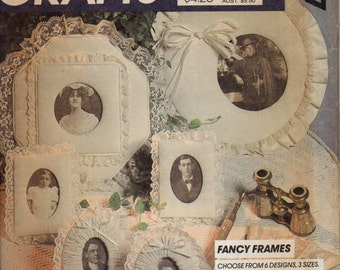 Vintage Fabric Covered Picture Frames Pattern, Sewing Pattern for Lacy, Romantic Picture Frames, Wedding Photo Frames Pattern
