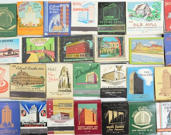 29 Hotel Architecture Buildings Matchbooks Lot