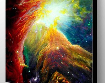 Orion Nebula | Nebula Painting | Orion Constellation | Nebula Art Print | Galaxy Art | Galaxy Painting | Space Wall Art | Space Painting