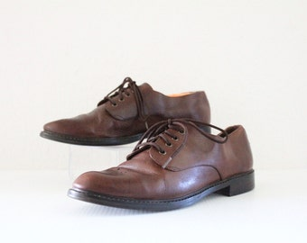 zodiac cocoa leather lace ups / 8.5
