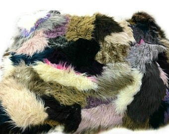 faux fur shaggy llama sheepskin throw rug blanket shaggy soft thick - Faux Fur Rugs