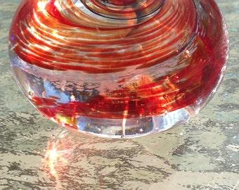 Candy Carousel - handmade art glass paperweight