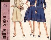 70s Dress & Jacket Pattern McCalls 2989 Size 16 Uncut