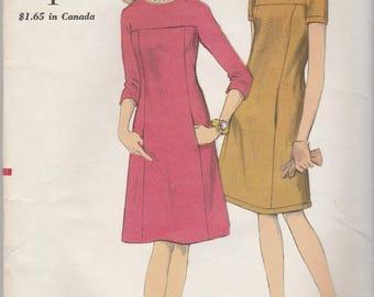 Simple 60s Dress Pattern Vogue 6992 Size 14