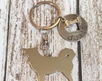 Alaskan malamute Custom Keychain Dog Lover