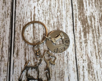 NEW Scottish Terrier outline Custom Keychain Dog Lover Scotty