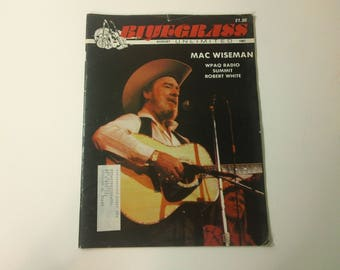 Bluegrass Unlimited Vol. 22, No. 2 (August 1987) - Mac Wiseman cover ~ vintage 80s Music Magazine back issue
