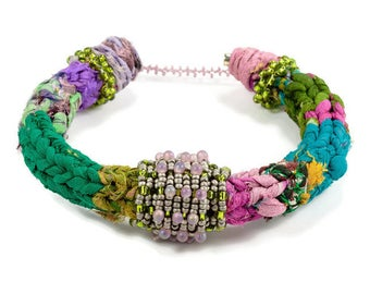 Fiber Bracelets, Woven Bangles, Ethnic Bangles, Fiber Bead Bracelet,  Textile Bangles, Stacking Fiber Bangles, Ethnic Fashion Jewelry