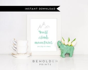 Printable, Mountain Print, Nursery Print, Nursery Wall Art, Nursery Decor, Baby Print, Baby Room Decor Baby Boy Print, Baby Girl Print