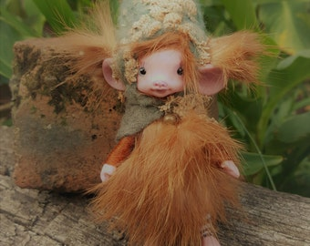 sweet pink   ooak posable   tiny  fairy fairie fae mouse