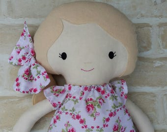 REDUCED Handmade Doll Softie Present Birthday Doll Handmade Girl dress up