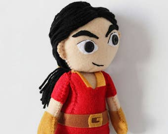 Gaston Doll Beauty and the Beast Inspired Plush