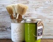 Handcrafted Chalk Paint, Green, Sea Glass, Beach Glass, Recycled Glass, Beach Wedding, DIY Wedding, Recycled Garden Art, Garden Trellis, Art