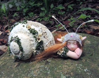 Beautiful Mermaid Mersnail Faery || Celia Anne Harris || OOAK