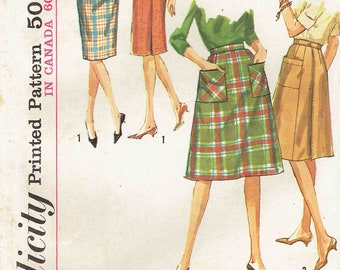 60s skirt pattern etsy